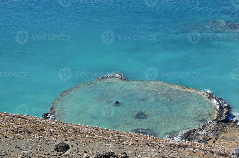 isola di bartolomé nelle isole galapagos foto
