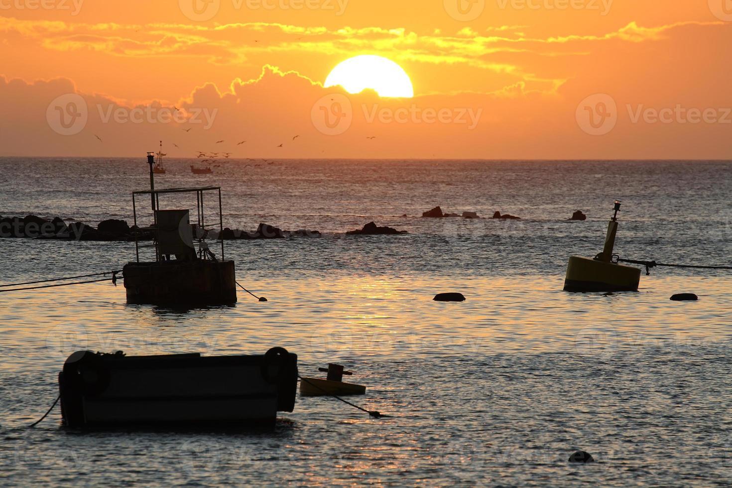 tramonto a Puerto Baquerizo Moreno foto