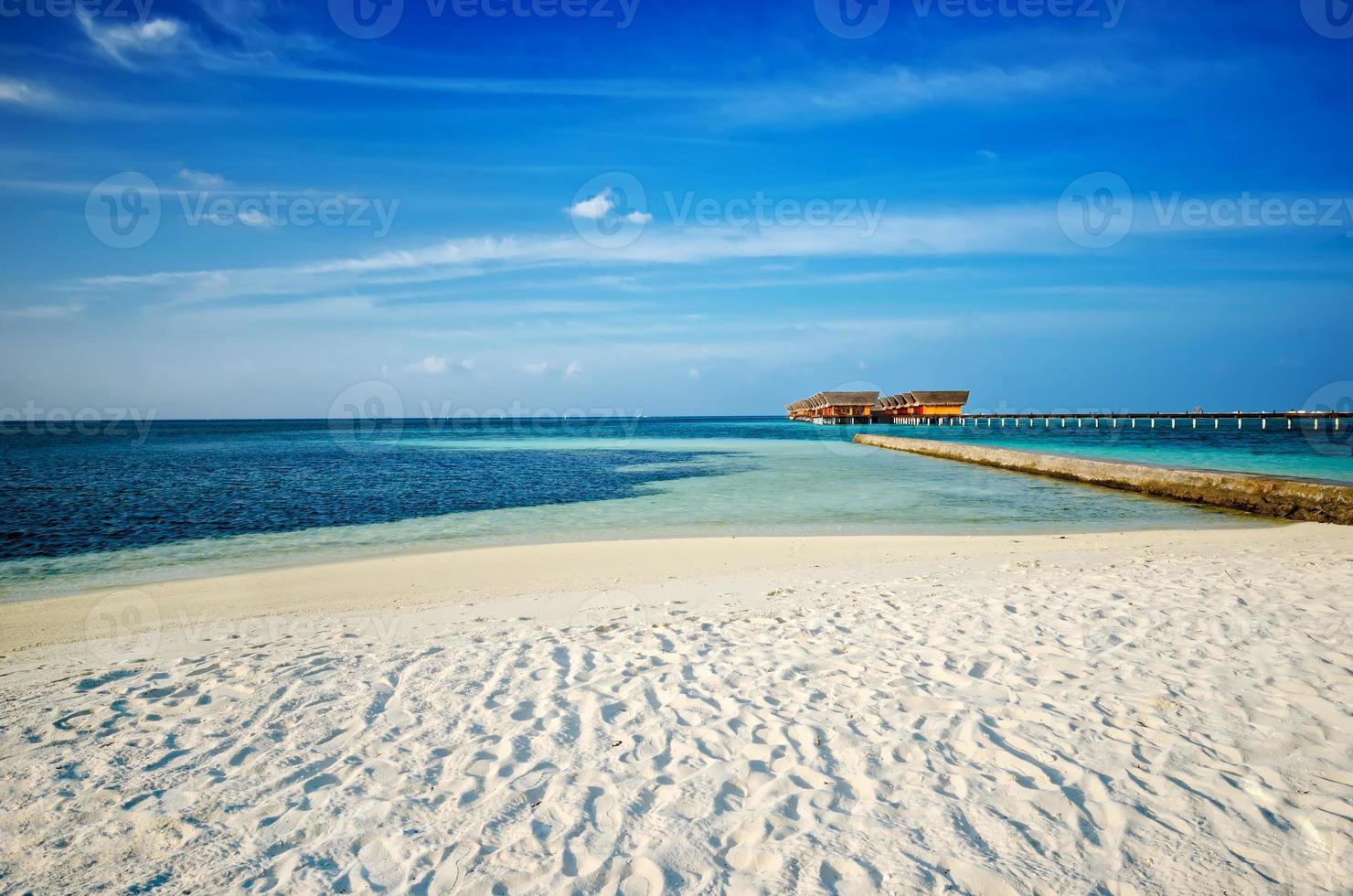 ville sulla spiaggia maldive foto