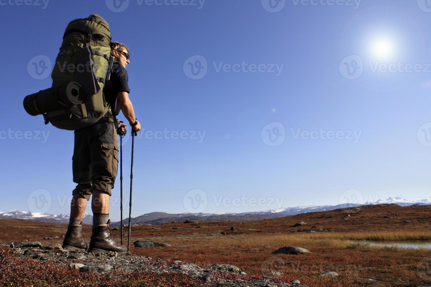 escursionista in tour foto