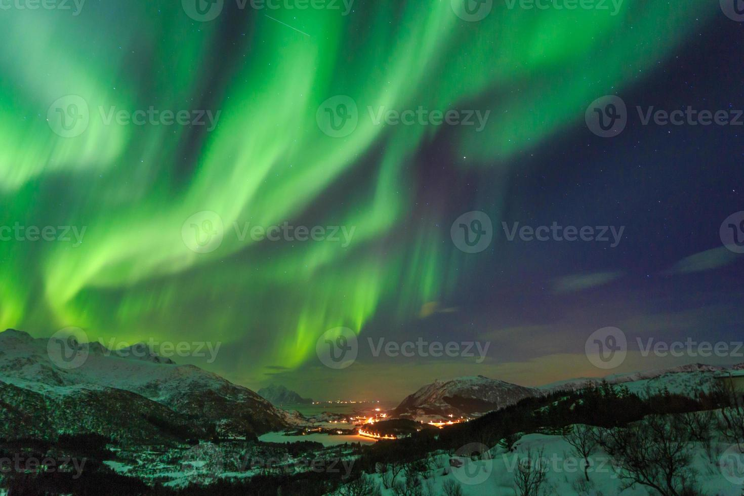 aurora boreale in Norvegia foto