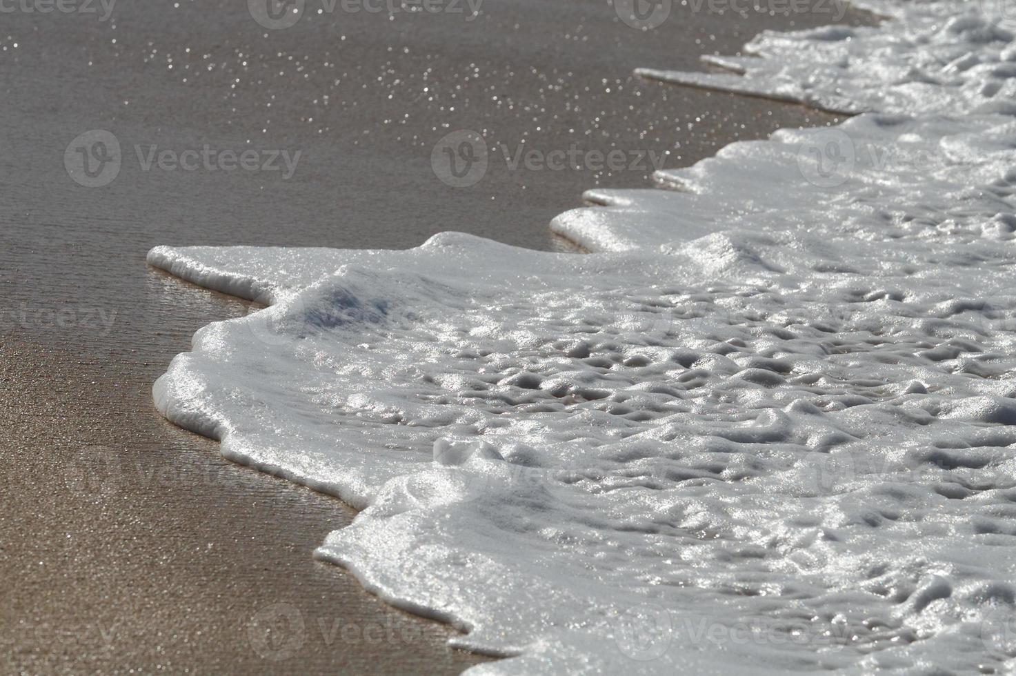 onde di acqua salata della sponda settentrionale della Hawaii foto
