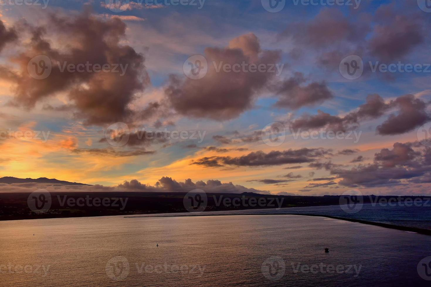 tramonto sulla grande isola, hawaii foto