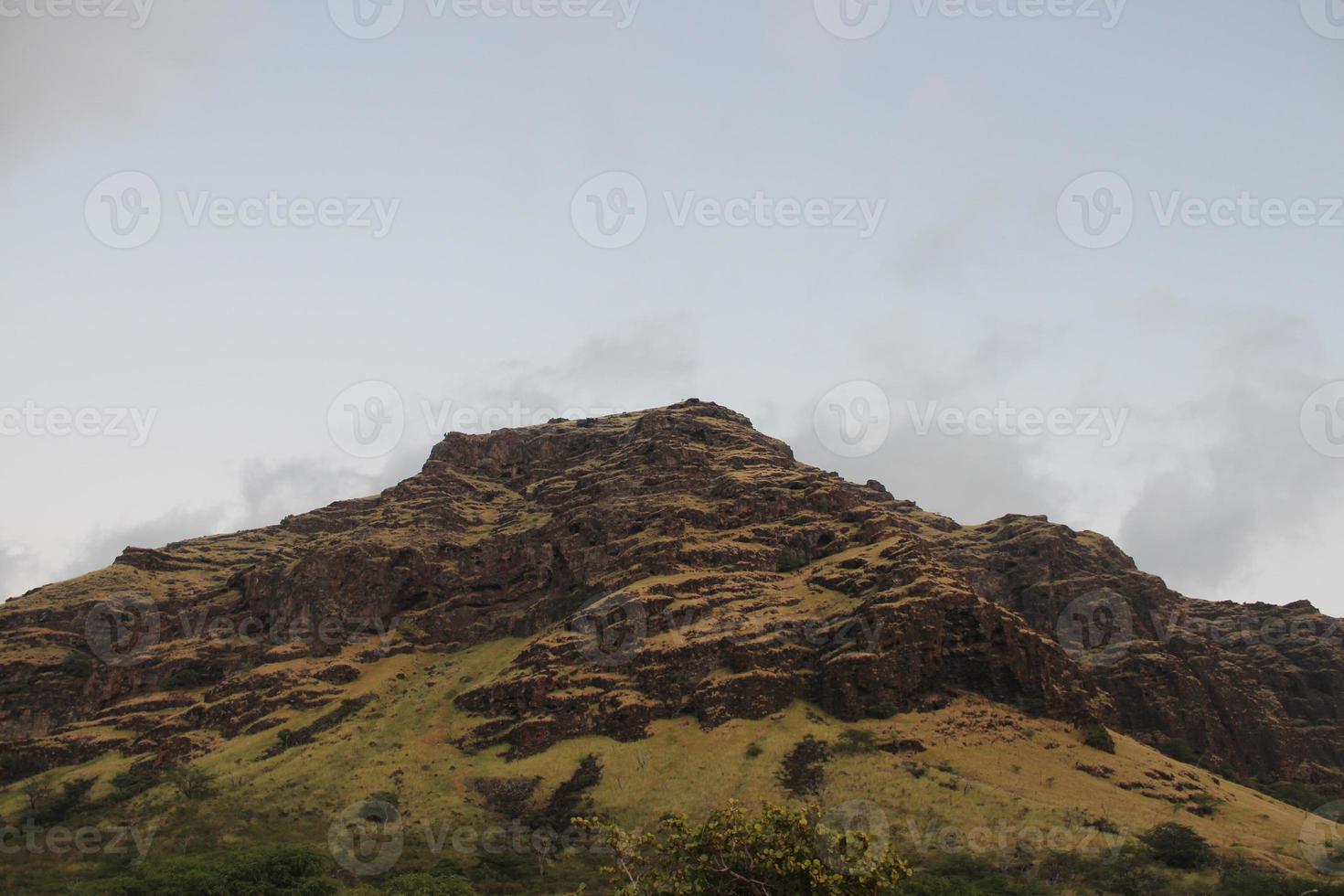 oahu montagne verdi foto