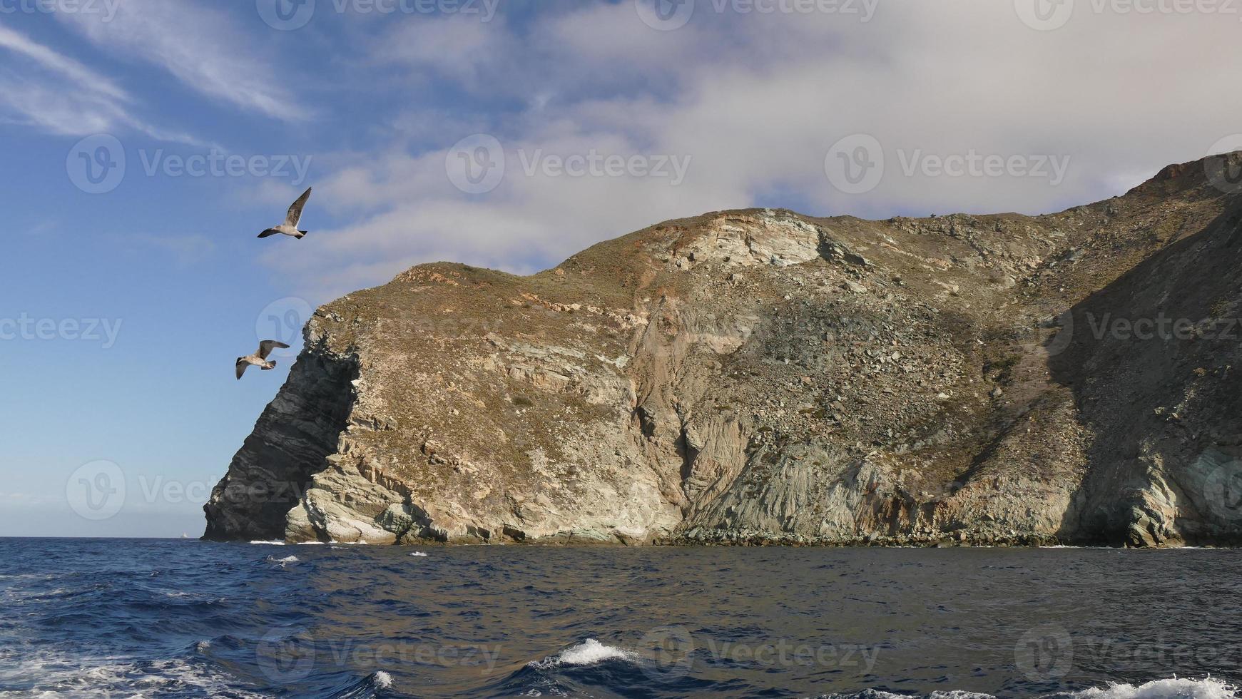 catus bay lato ovest dell'isola di catalina. foto