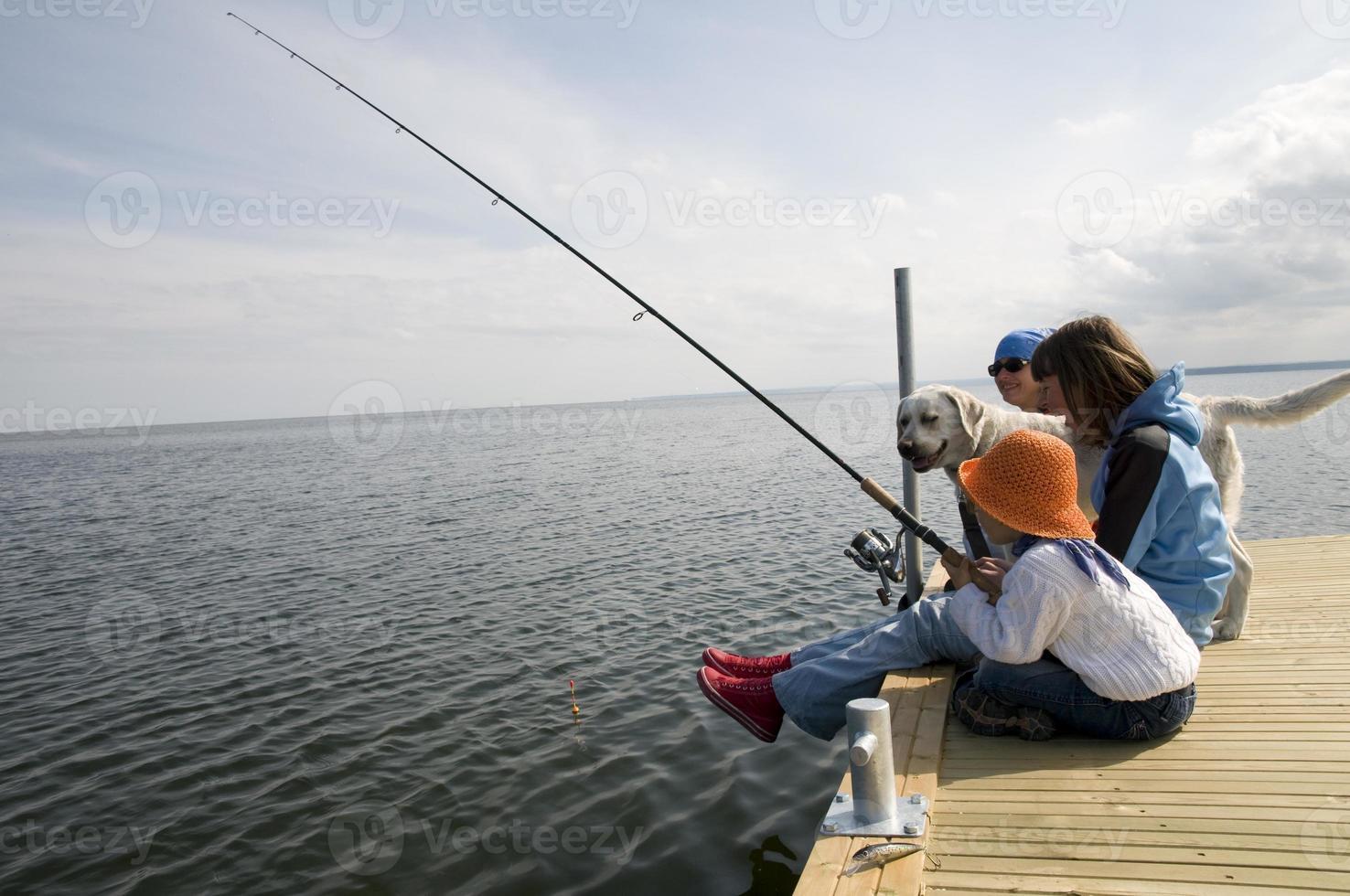 pesca in famiglia foto