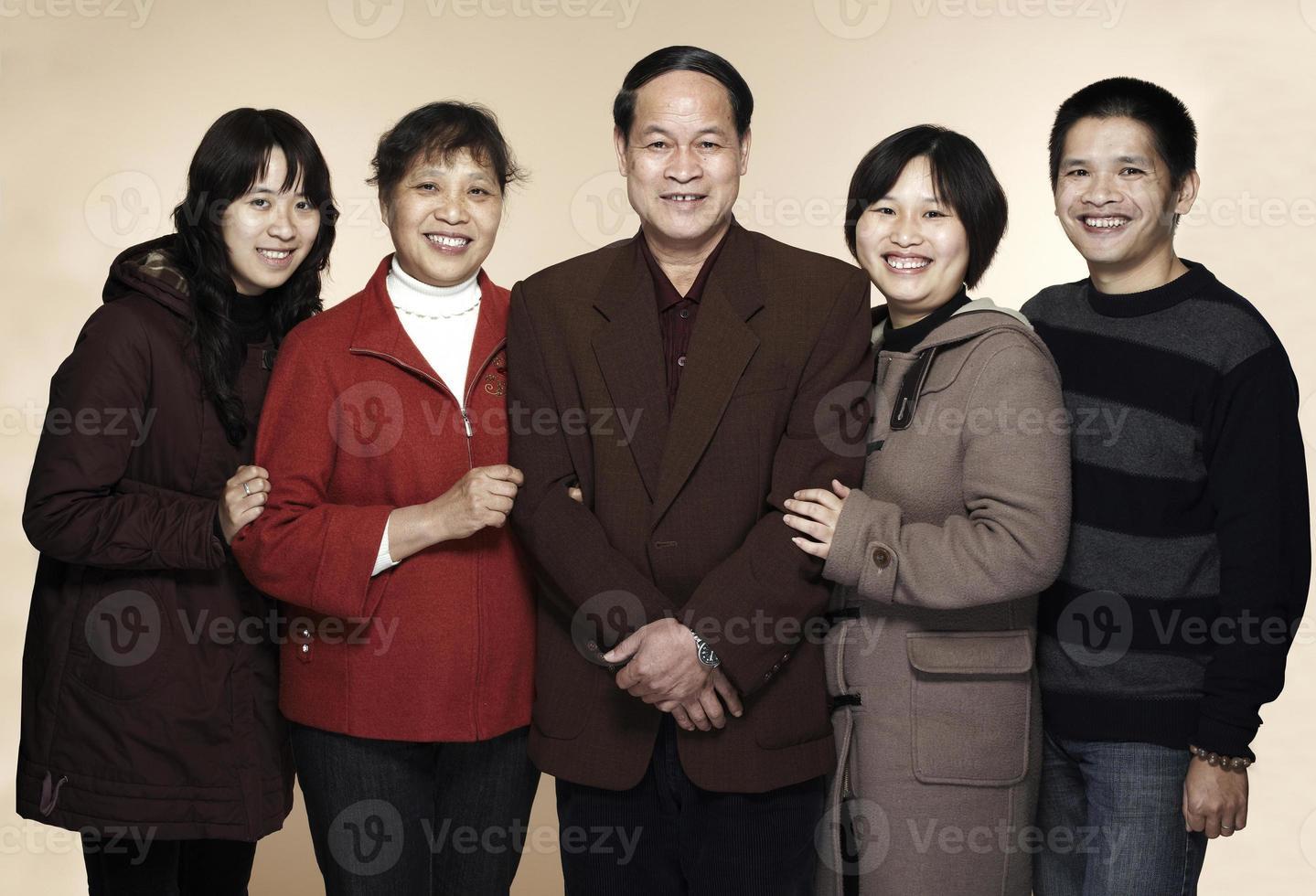 famiglia cinese foto