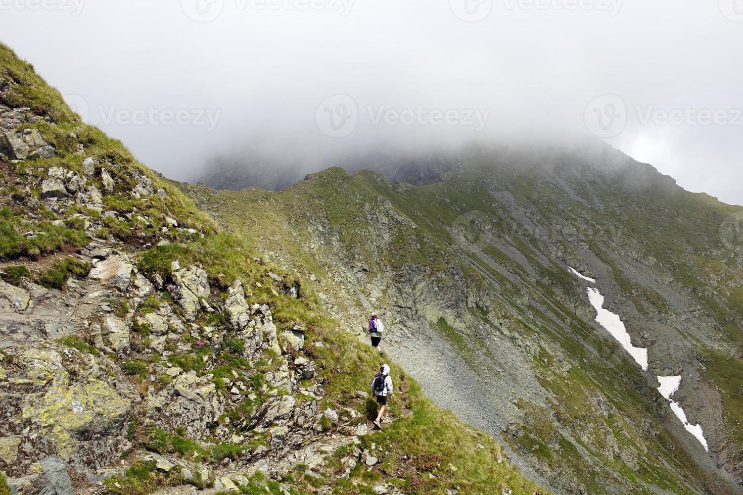 famiglia di escursionisti foto