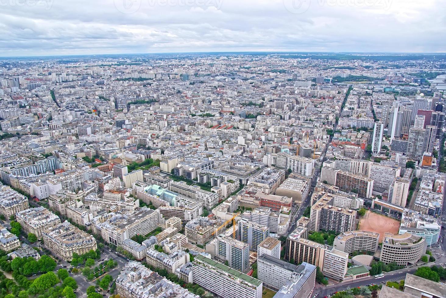 vista dall'alto di Parigi foto
