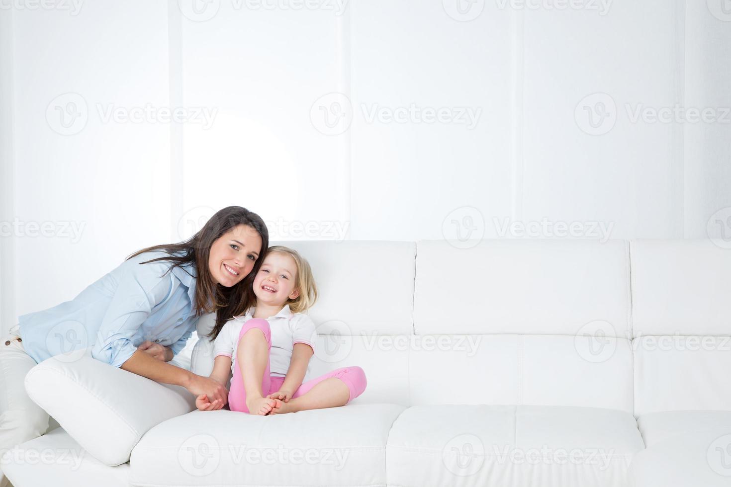 ritratto di signora con sua figlia foto