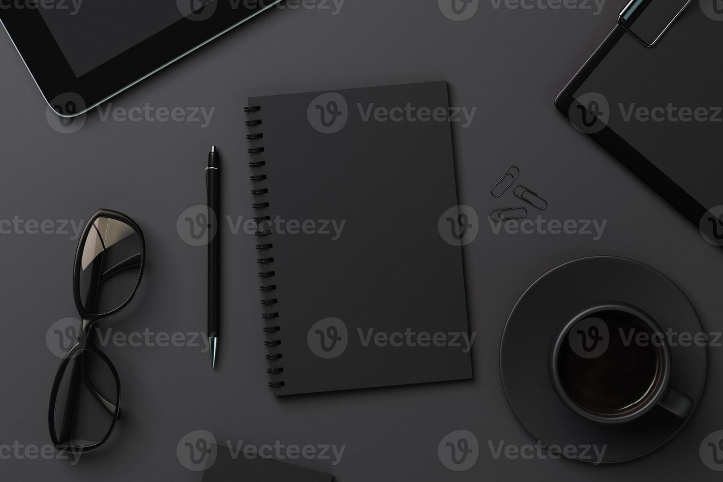 diario nero bianco e accessori foto