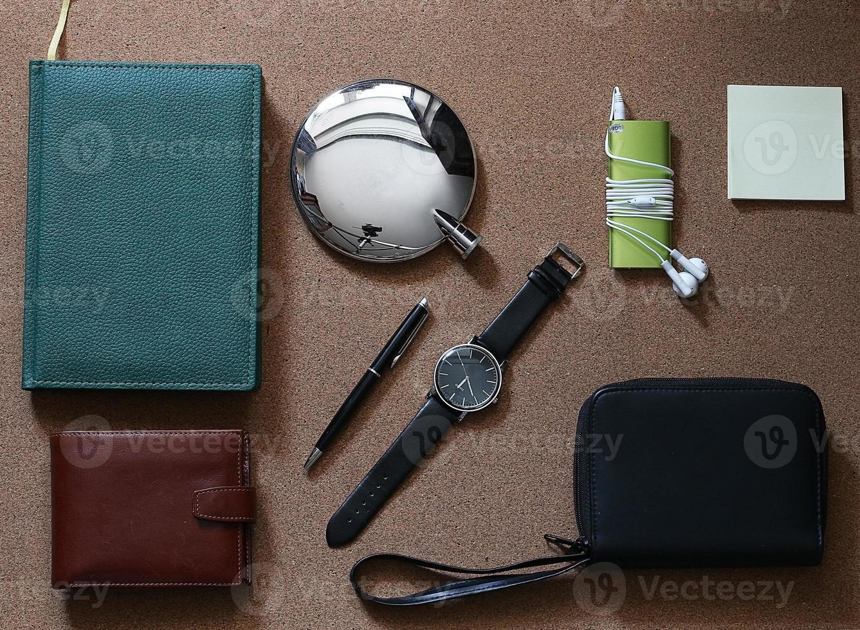 set di orologi da portafoglio da uomo foto