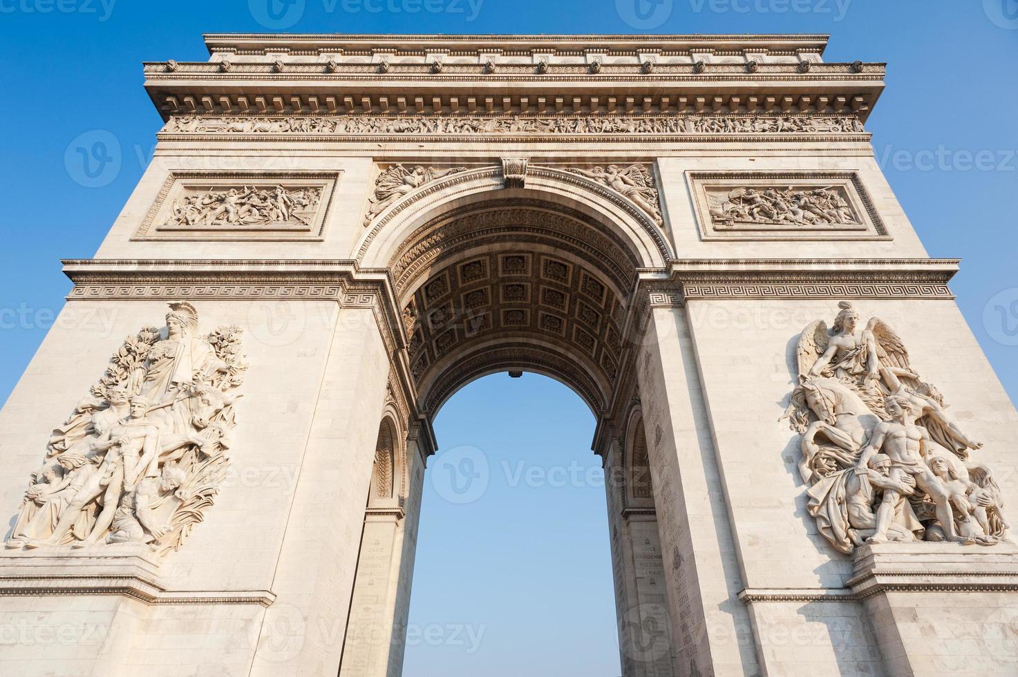 parigi francia arco trionfale foto