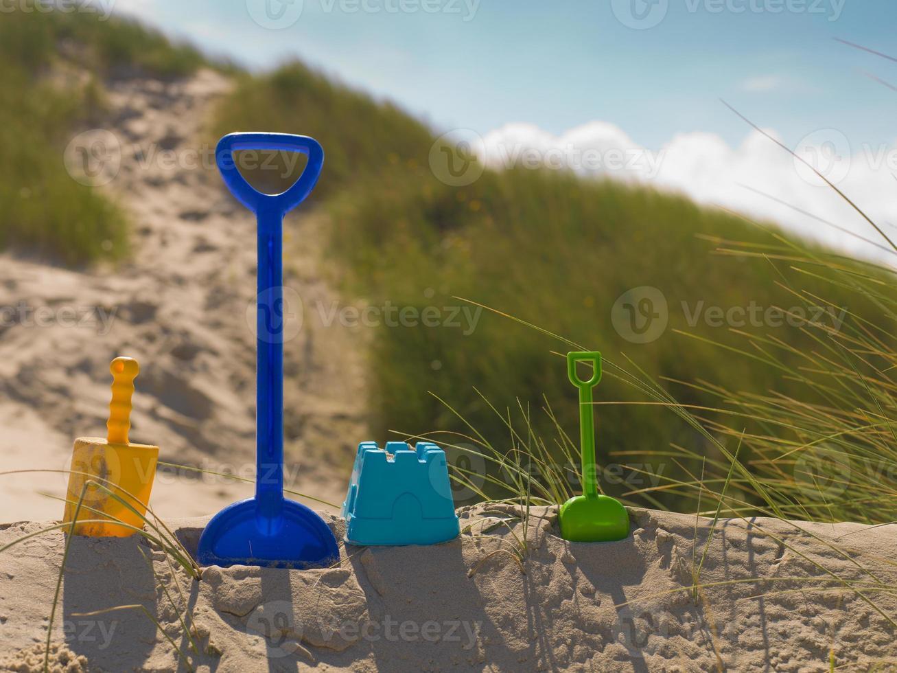 buddeln am strand foto