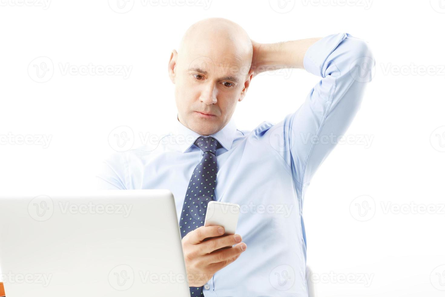 ritratto di uomo d'affari senior foto