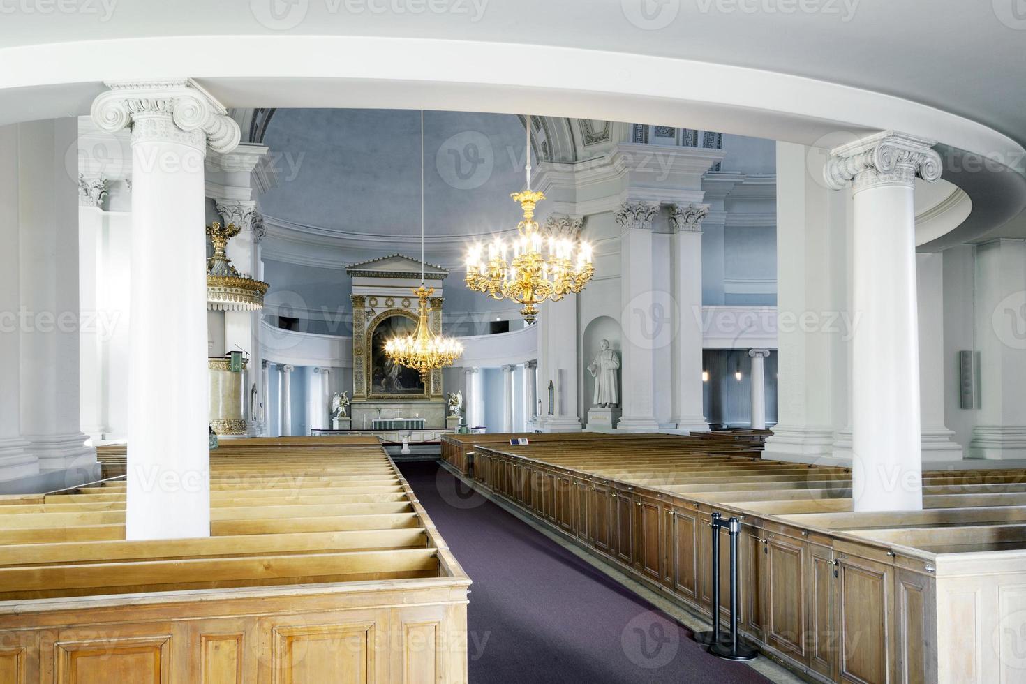 interno della cattedrale di helsinki foto