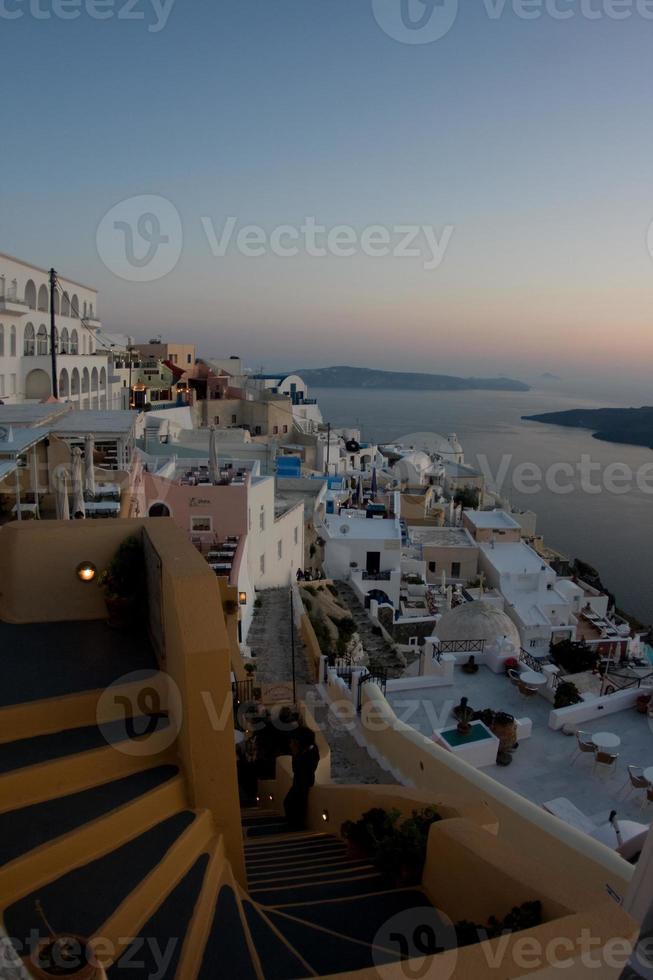 viste di santorini - grecia foto