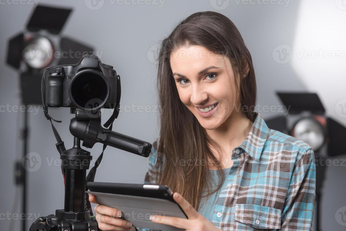 ritratto di giovane fotografo foto