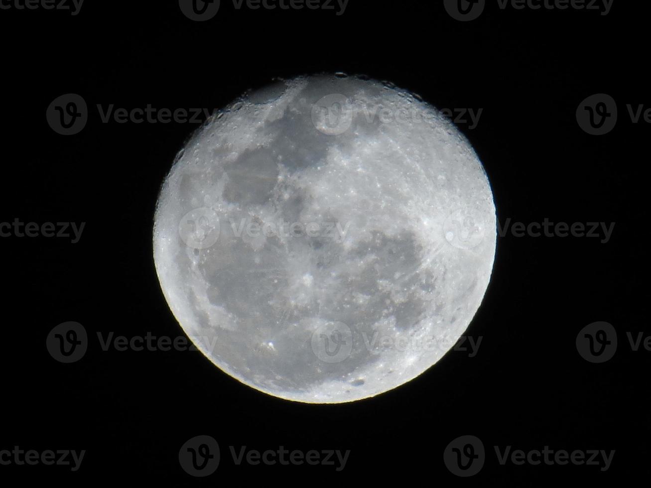 primo piano della luna foto