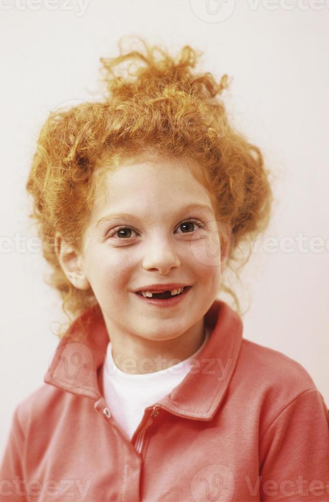 ragazza che sorride, ritratto foto