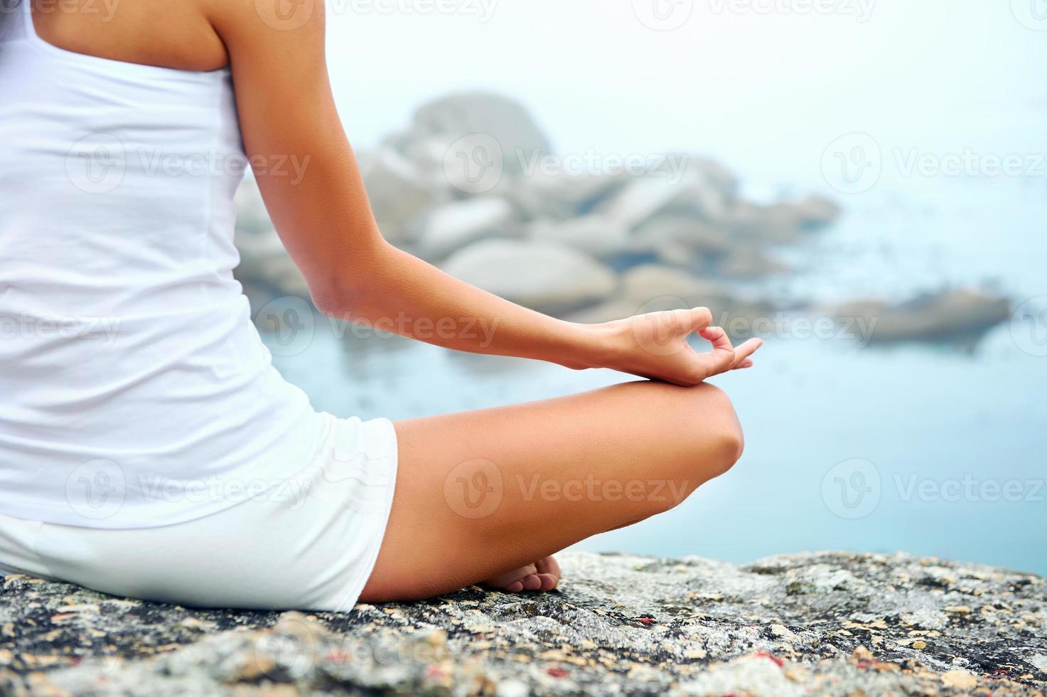 donna di yoga stile di vita foto