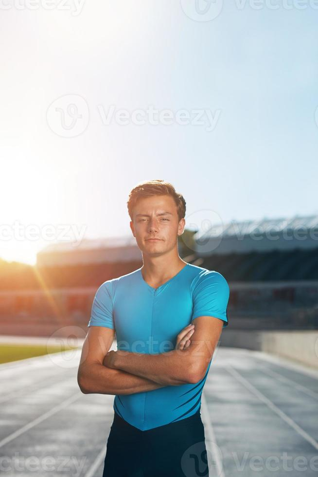 atleta professionista di atletica maschile foto