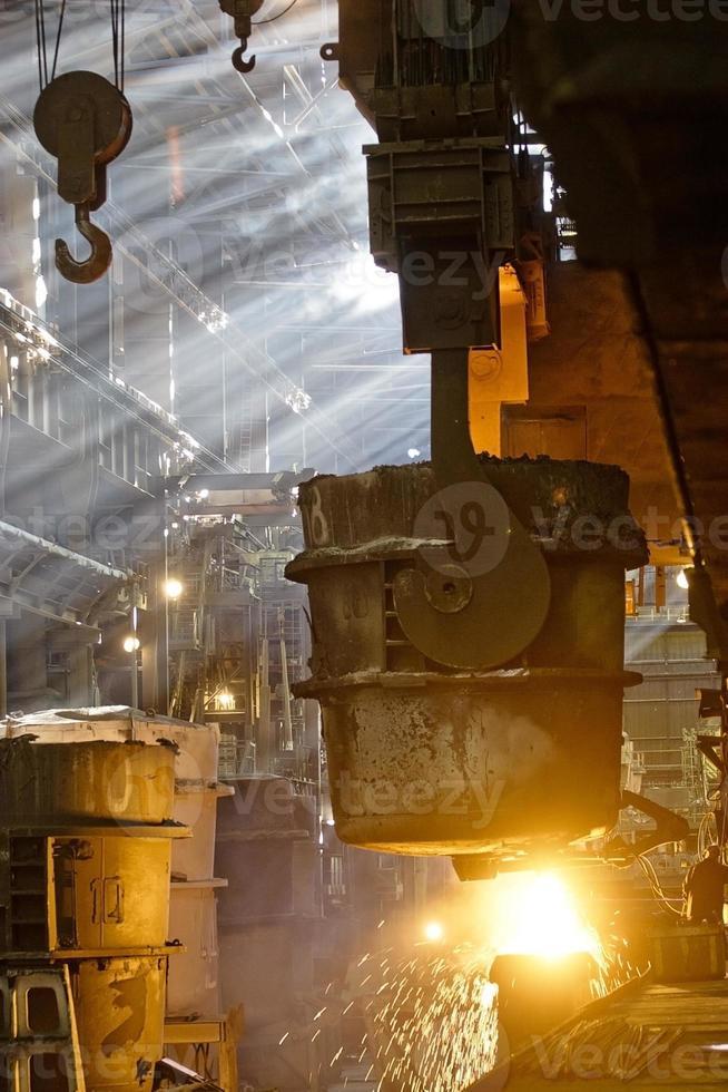 processo di produzione di metallo foto