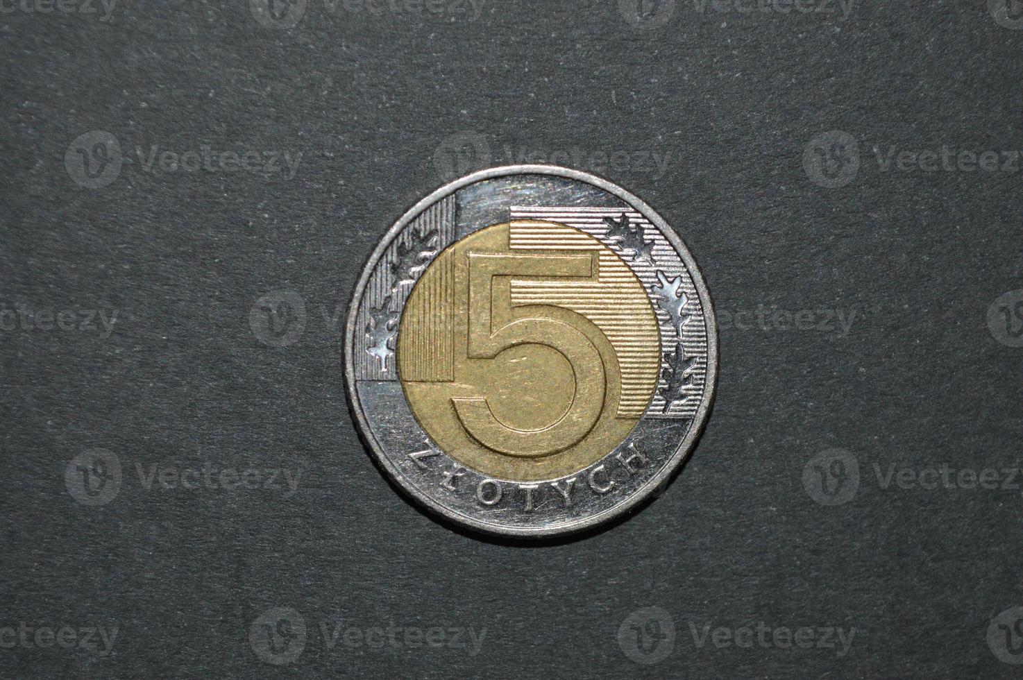 moneta da cinque zloty smalto denaro pln foto