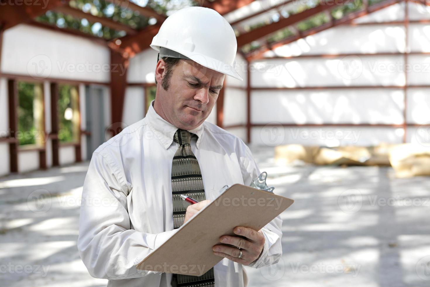 ispettore di costruzione - lista di controllo di marcatura foto