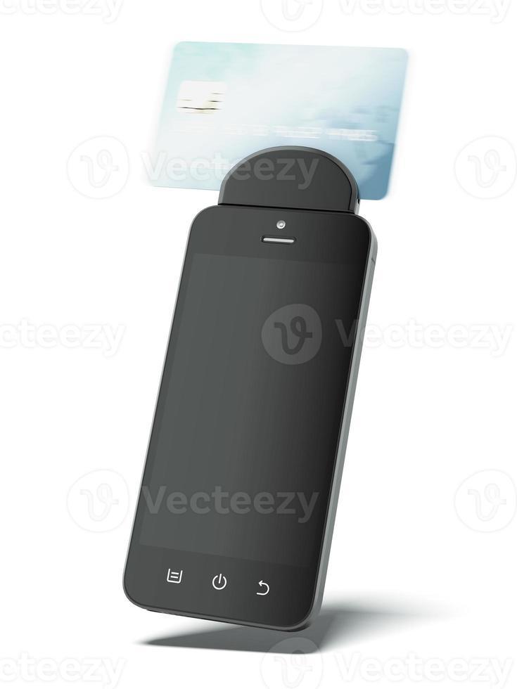 gadget per la lettura di carte di credito foto