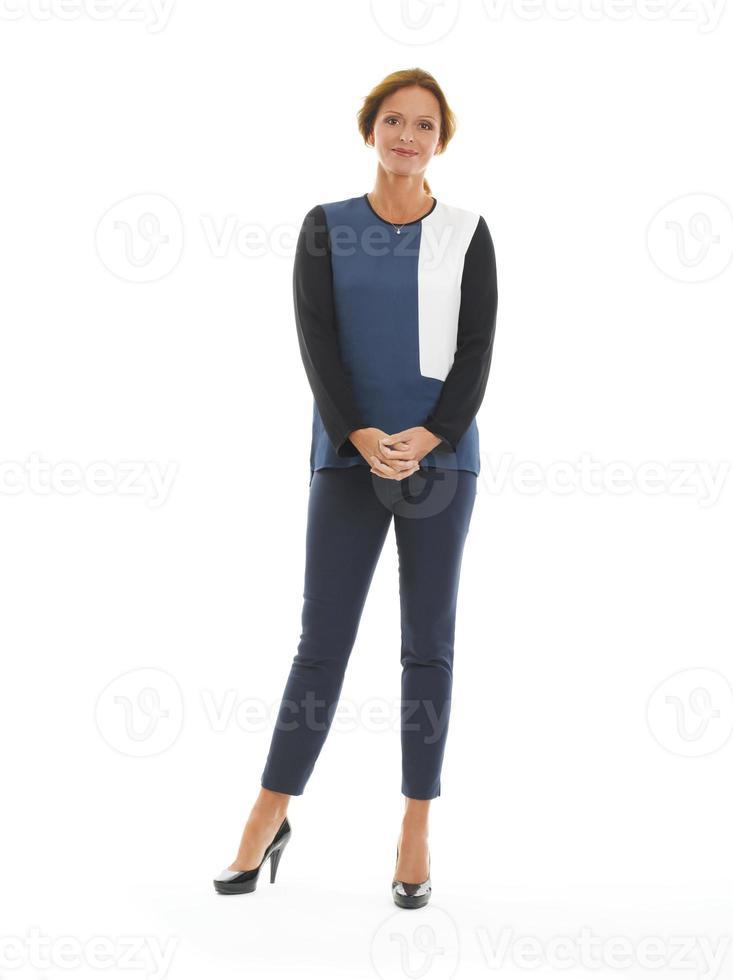 ritratto maturo della donna di affari foto