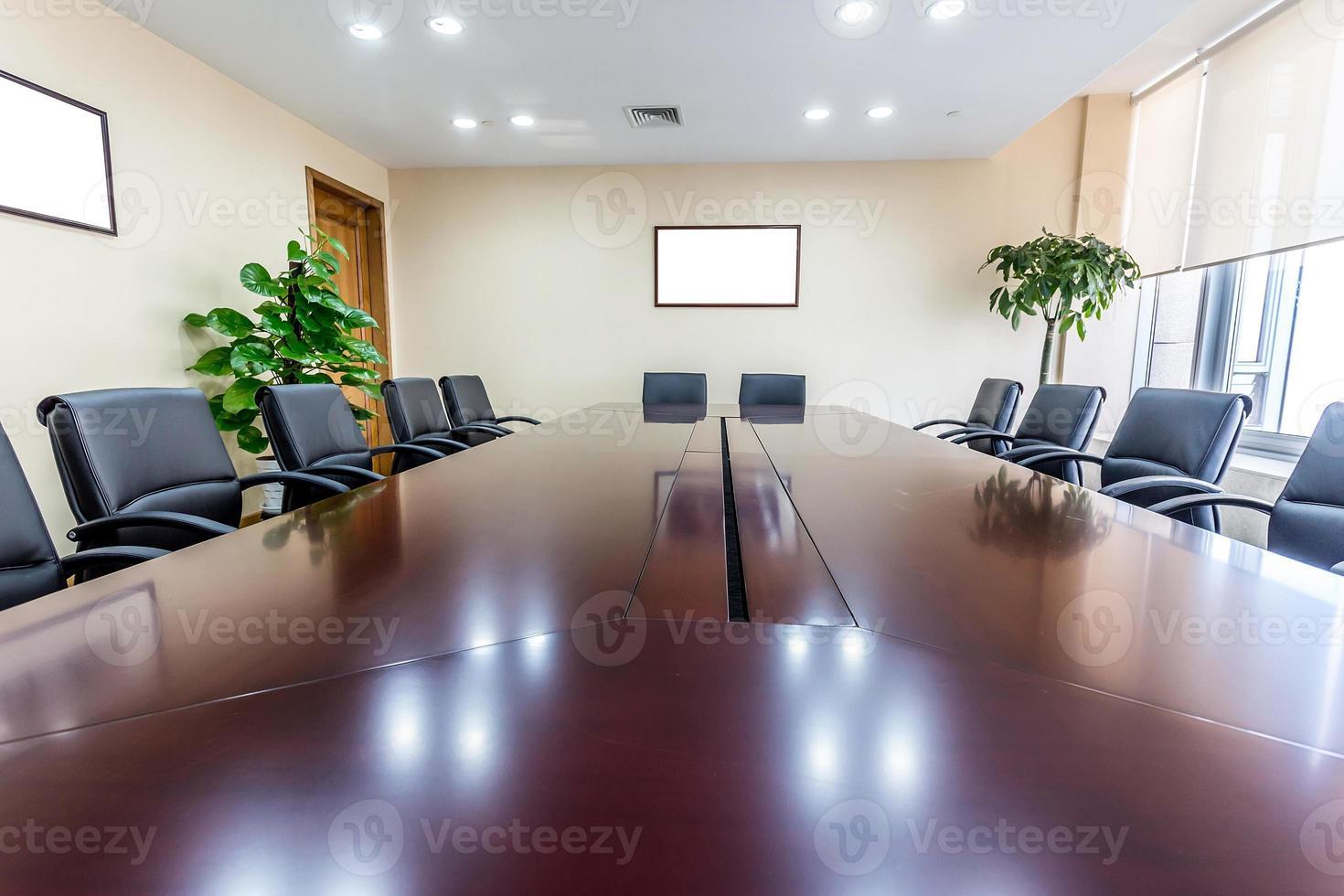 interno della sala riunioni d'affari foto