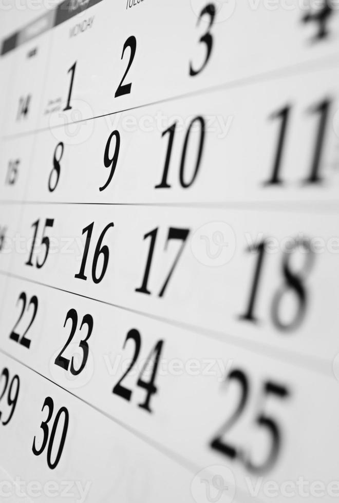 calendario con date foto