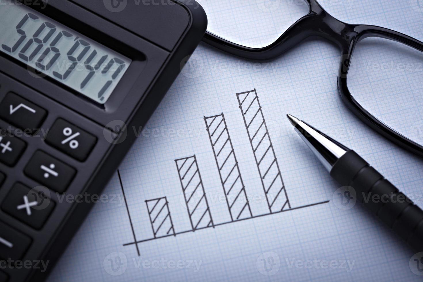 diagramma grafico per affari finanziari foto