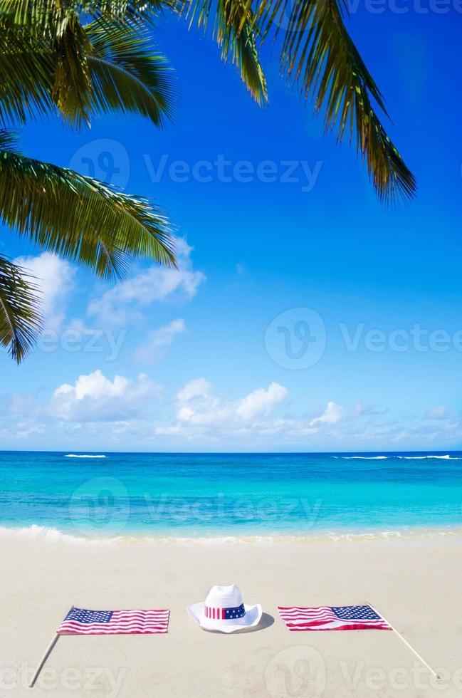 sfondo vacanze americane con cappello foto
