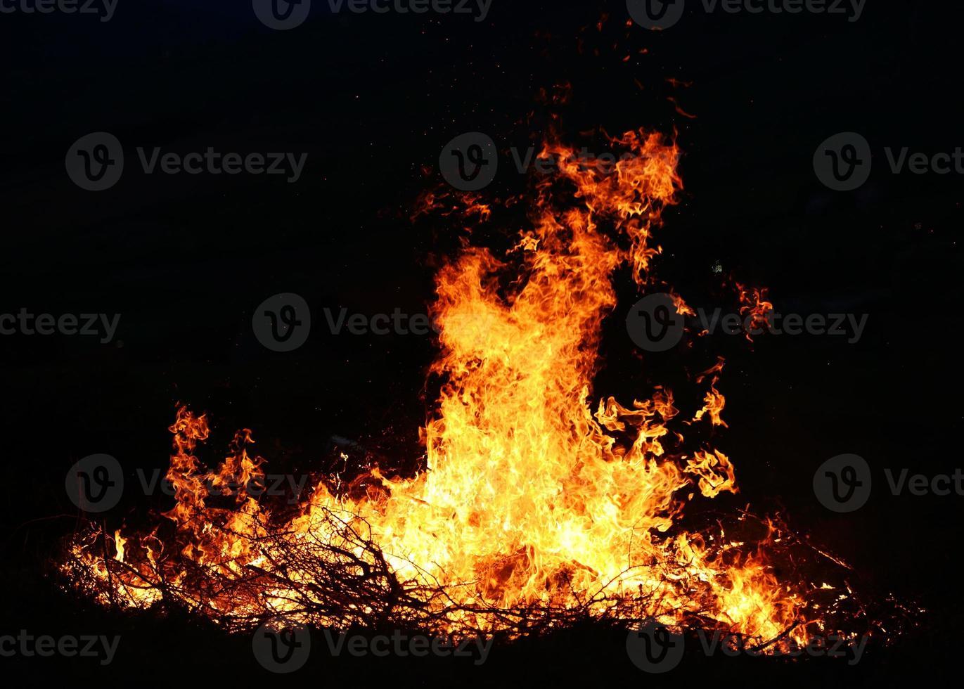 grande incendio foto
