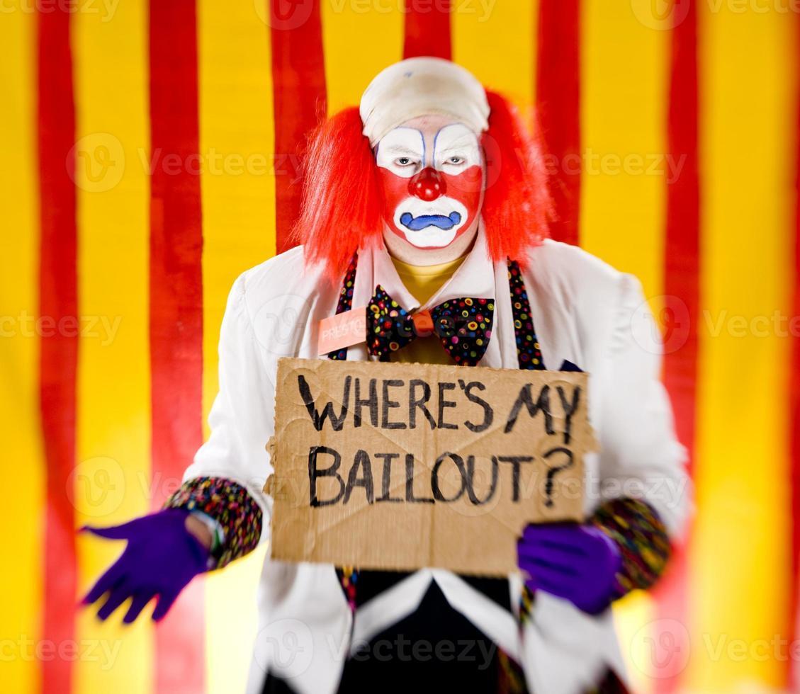 clown con dov'è il mio segno di salvataggio foto
