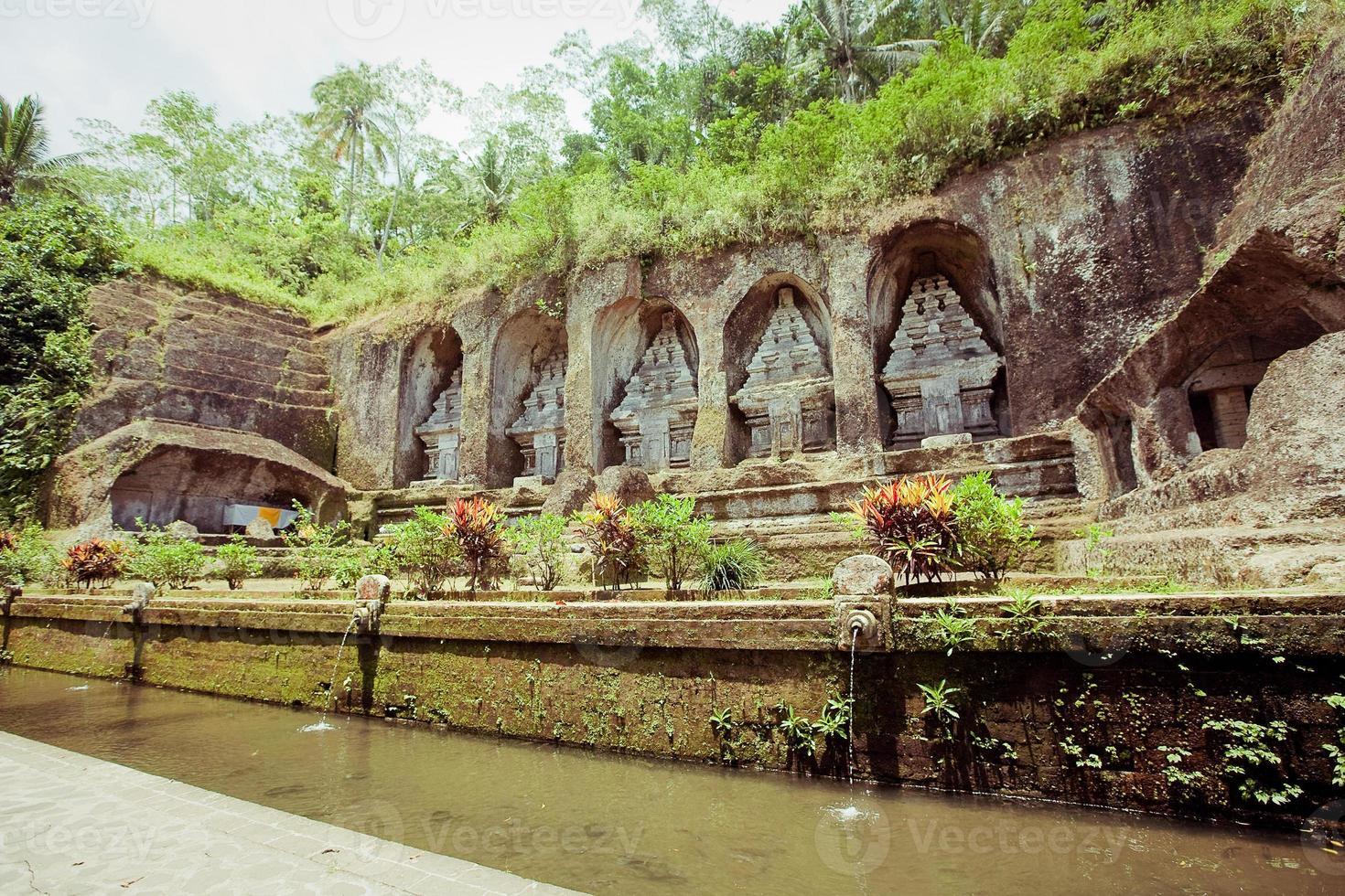 Tempio di Gunung Kawi a Bali foto