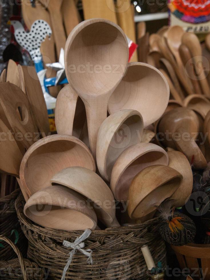 cucchiai di legno Perù foto