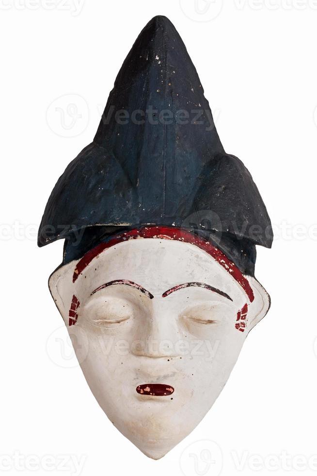 maschera etnica africana in argilla foto