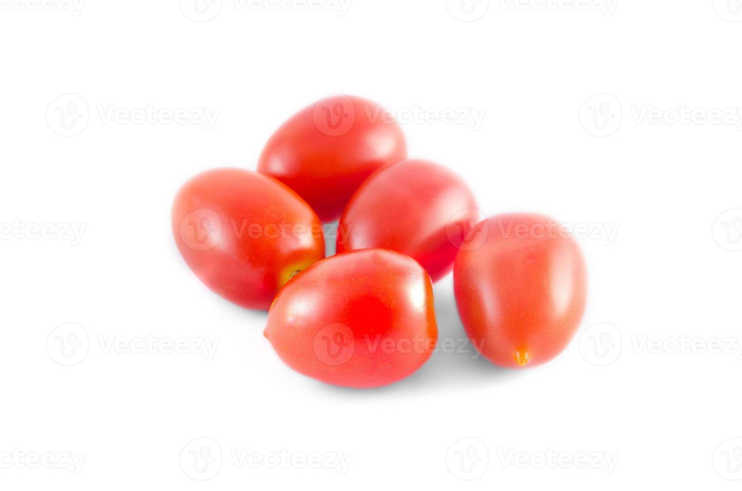 pomodori su sfondo bianco foto