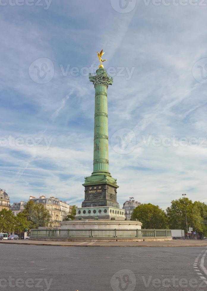 Place de la Bastille a Parigi, Francia foto