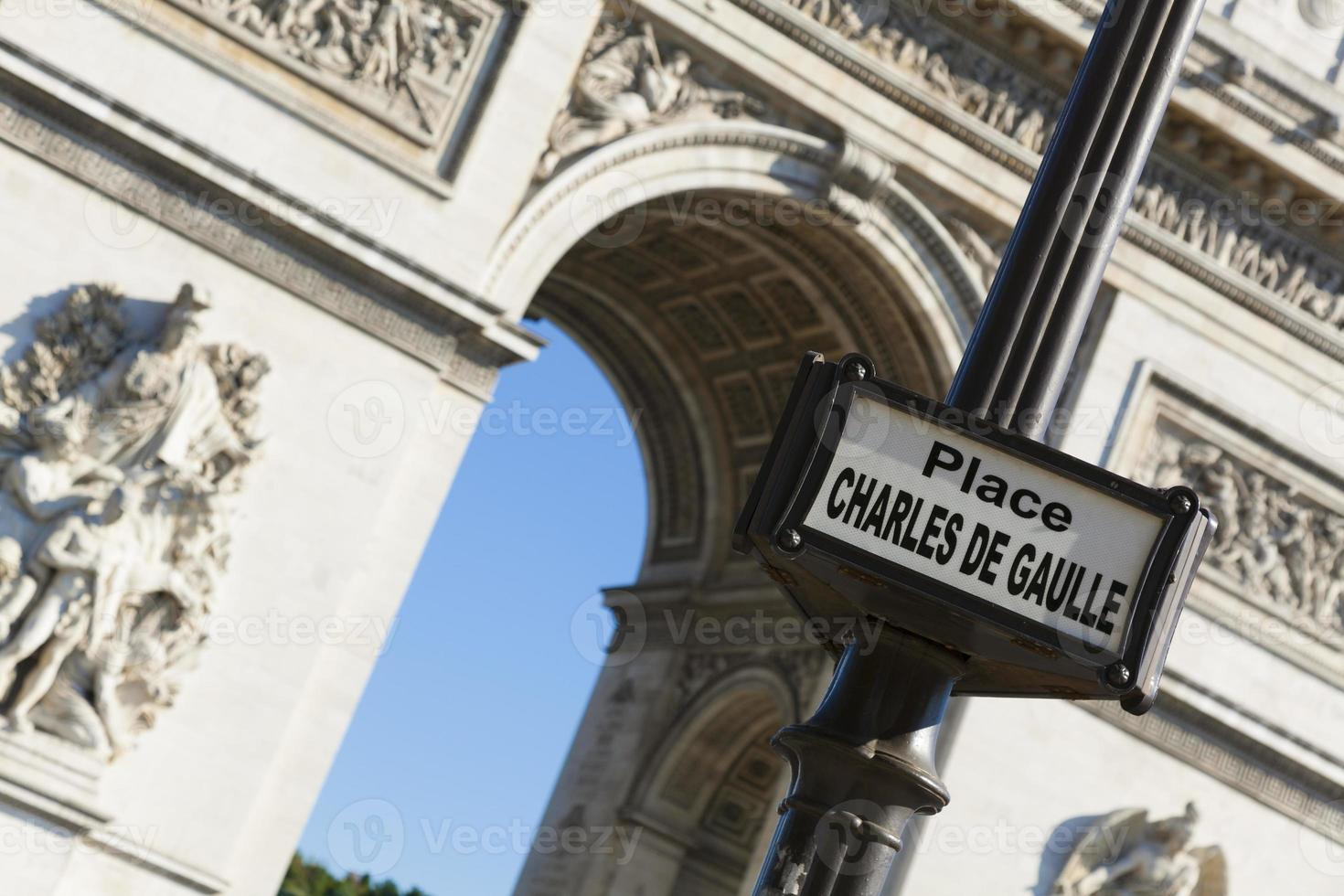 piazza charles de gaulle, parigi foto