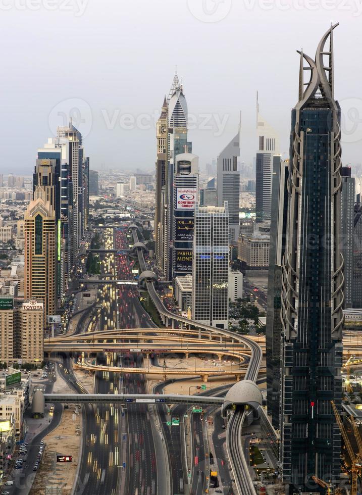 skyline di Dubai foto