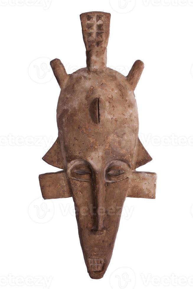 maschera tribale africana di colore marrone foto
