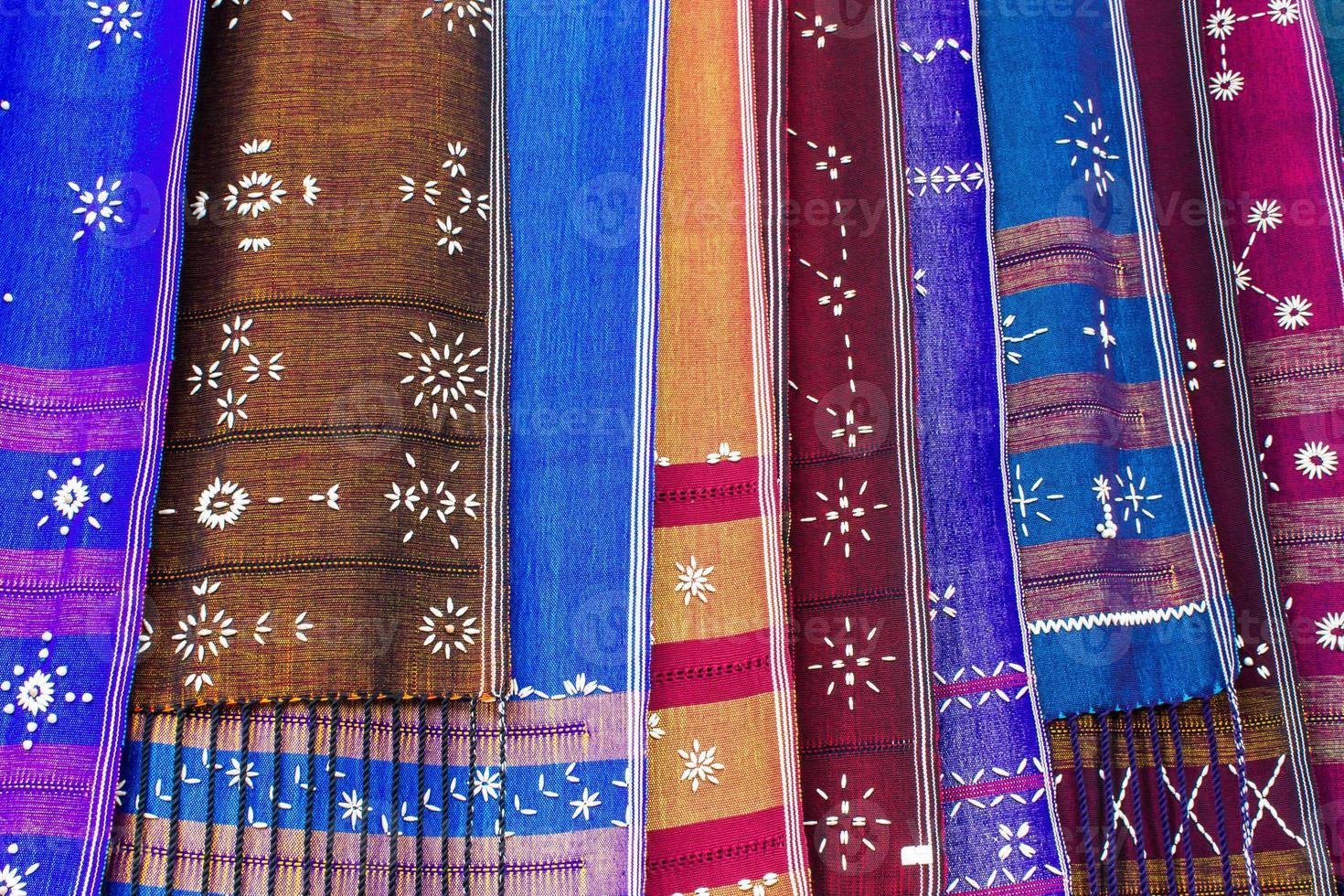 Karen tessuta in Tailandia foto