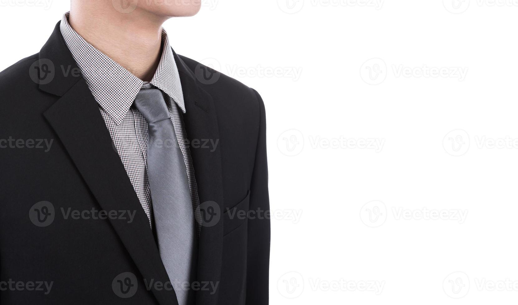 uomo d'affari in tuta su uno sfondo bianco foto