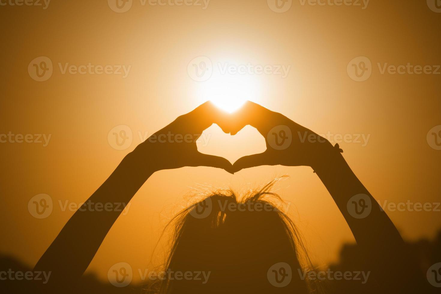 a forma di cuore per il sole. foto