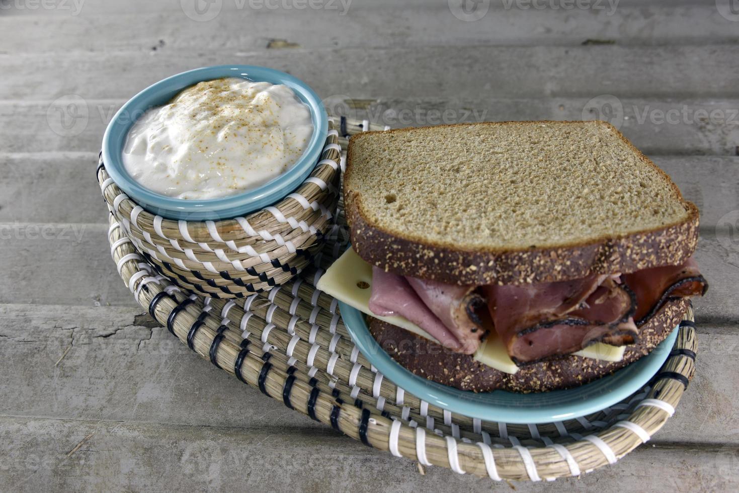 panino con carne arrosto di manzo foto