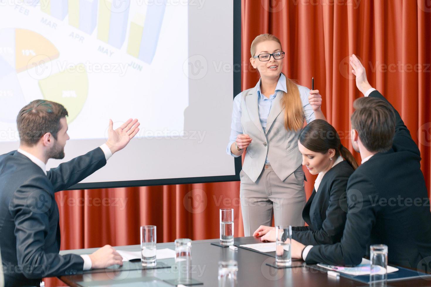 fare una presentazione alla riunione foto